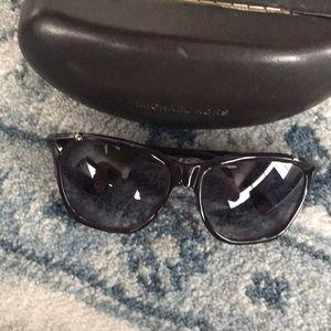 Michael Kors purple sunglasses with case